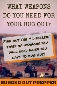 What Weapons do You Need for Your Bug Out